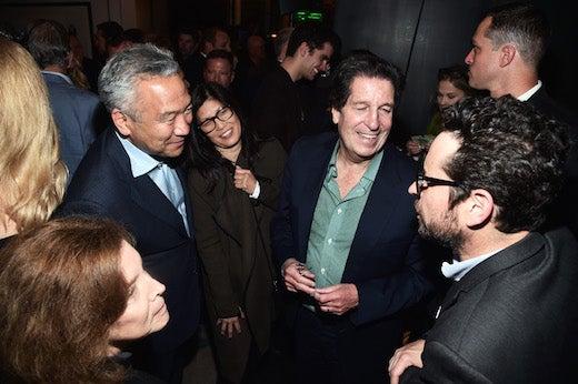Kevin Tsujihara, Sandy Tsujihara, Warner Bros. Television Group CCO Peter Roth, and J.J. Abrams