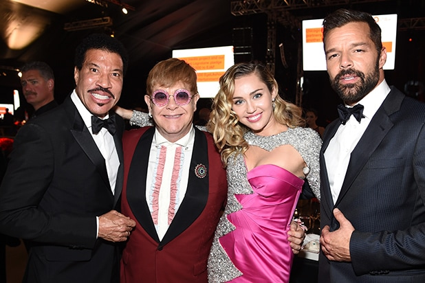 Lionel Richie, Sir Elton John, Miley Cyrus, and Ricky Martin