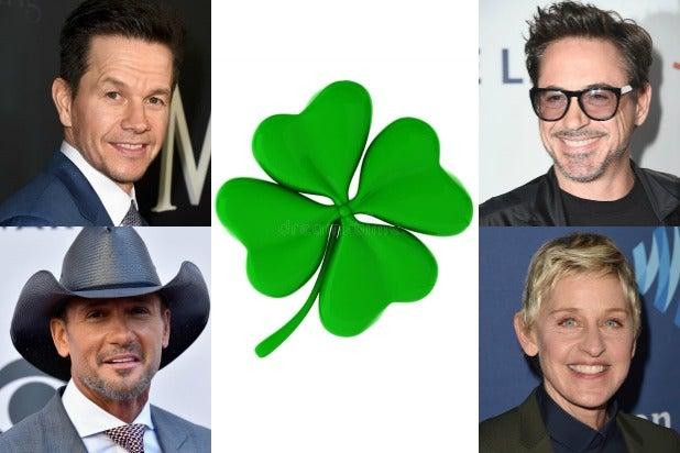 Mark Wahlberg Tim McGraw Robert Downey Ellen Degeneres St Patricks Day