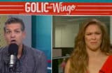 Mike Golic and Ronda Rousey