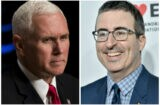 Mike Pence and John Oliver