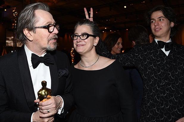 """Academy Award Winner for Best Actor for """"Darkest Hour"""", Gary Oldman, and Gisele Schmidt"""