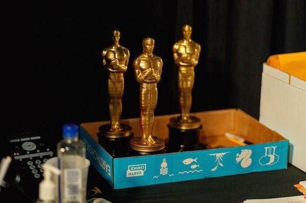 Oscars rehearsal statuettes