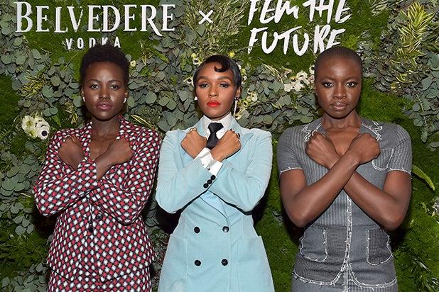 Lupita Nyong'o, Janelle Monae and Danai Gurira