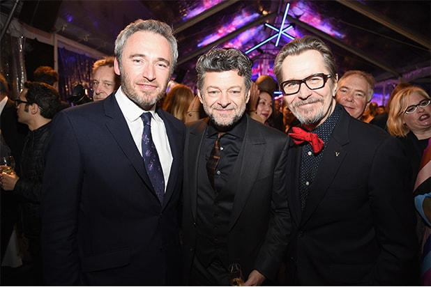British Consul General Michael Howells, Andy Serkis, and Gary Oldman