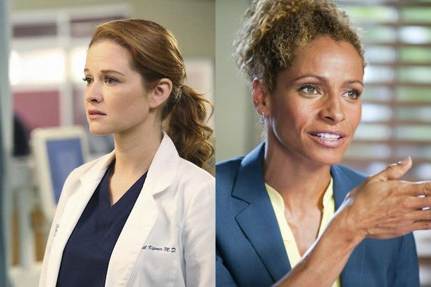 Sarah Drew and Michelle Hurd
