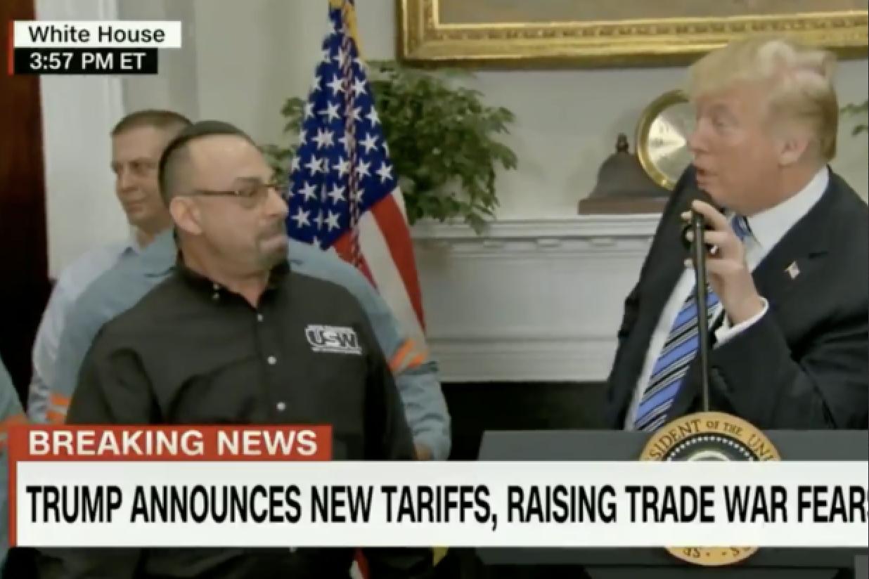 Trump Steel Worker Father Dead Herman