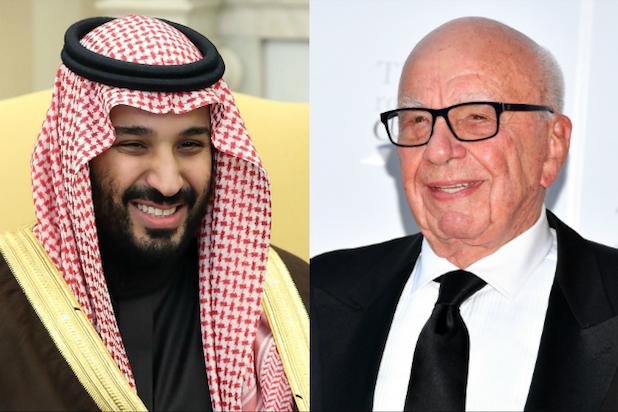 Saudi Crown Prince Mohammed bin Salman, Rupert Murdoch