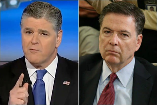 Image result for Live On TV, Hannity Just Took Out a Single Piece of Paper That May End Up Sending James Comey To Prison