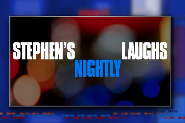 Stephen Colbert loves Donald Trump's new 'Spanky' nickname