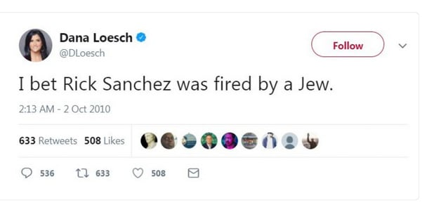 NRA Spokesperson Dana Loesch 2010 'Fired By a Jew' Tweet