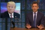 late night with seth meyers donald trump making stuff up