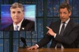 late night with seth meyers sean hannity can't stop talking about donald trump pee tape russia