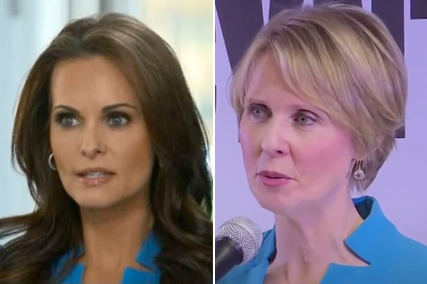 Who Wore It Best? Karen McDougal and Cynthia Nixon Donned Same Dress for Big Media Moments