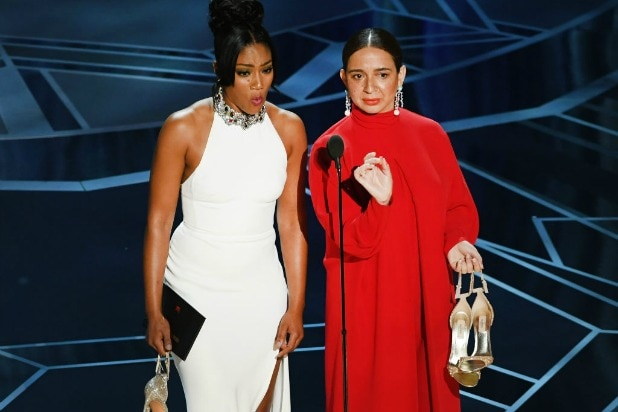 oscars academy awards tiffany haddish snl dress maya rudolph