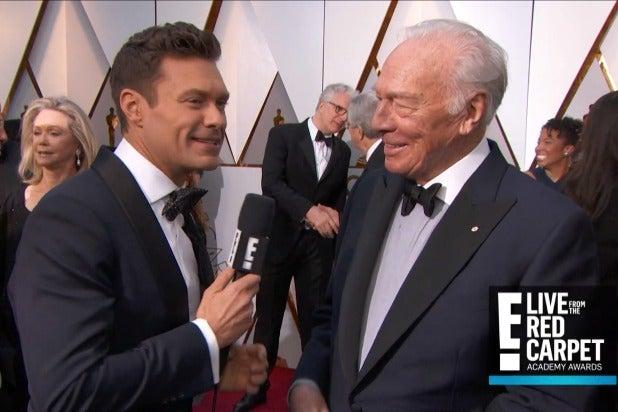 Oscars: Seacrest Avoids Mentioning Spacey in Christopher Plummer