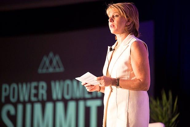 sharon waxman announcement Power Women Breakfast 2018 Austin