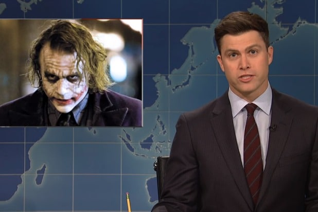 snl saturday night live weekend update colin jost donald trump joker