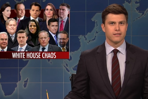 Snl Weekend Update Host Colin Jost White House Is Basically Just That Dead Mall In Your Hometown At This Point Video