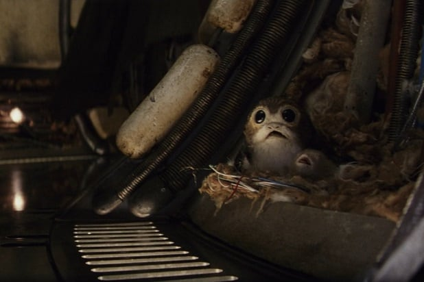 star wars the last jedi falcon nest porgs