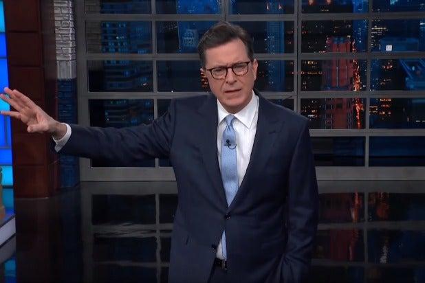 Stephen Colberts Monologue Derailed By Sam Nunbergs Meltdown