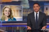 the daily show with trevor noah kellyanne conway donald trump chaos hatch act