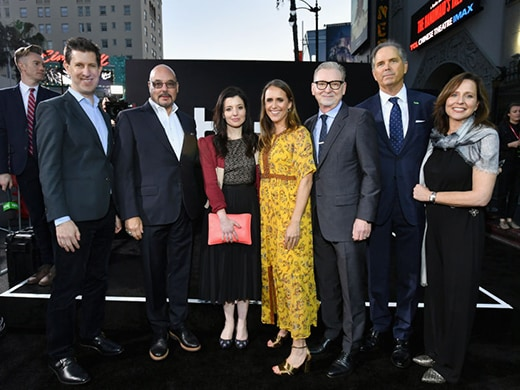 SVP, Head of Content at Hulu Craig Erwich, CCO of Hulu Joel Stillerman, Head of Originals at Hulu Beatrice Springborn, Lindsay Sloan, Exec VP of production & development, MGM, Steve Stark, president of TV produciton, MGM, Warren Littlefield, CEO of Hulu Randy Freer