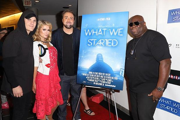 _0008_Chris Zylka, Paris Hilton, Director Bert Marcus and Carl Cox