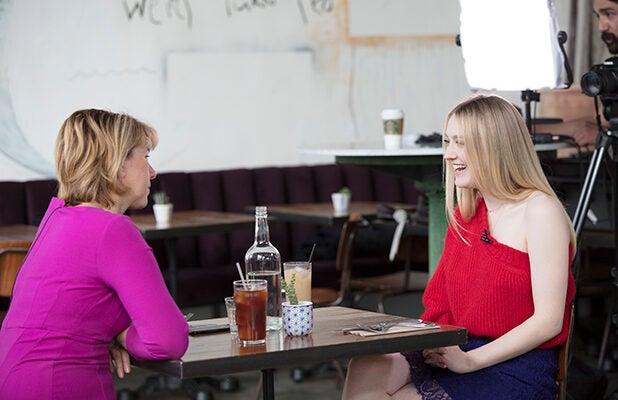 Sharon Waxman and Dakota Fanning, Power Women Lunch