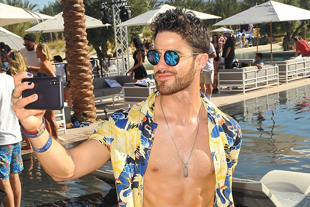 Darren Criss at Republic Records Coachella Party