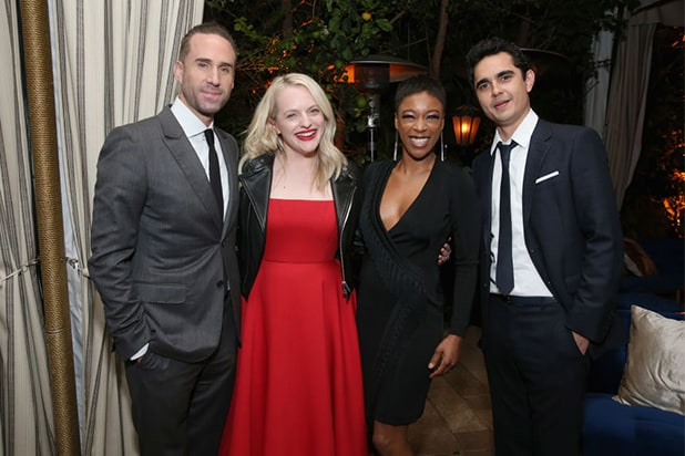 COVER - Joseph Fiennes, Elisabeth Moss, Samira Wiley, and Max Minghella - GettyImages-948929954
