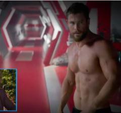 Chris Hemsworth Shirtless Avengers