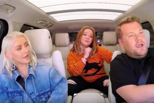 Melissa Mccarthy Crashes Christina Aguilera S Carpool Karaoke To Rap