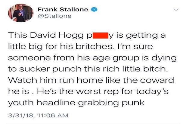 frank stallone censored tweet