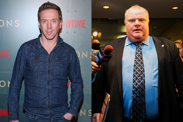 Yes That S Damian Lewis In Full Makeup As Former Toronto Mayor Rob Ford