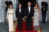 Trump Melania Emmanuel Macron