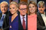 Chris Matthews Megyn Kelly Joe Scarborough Nicolle Wallace Sean Hannity Q rating