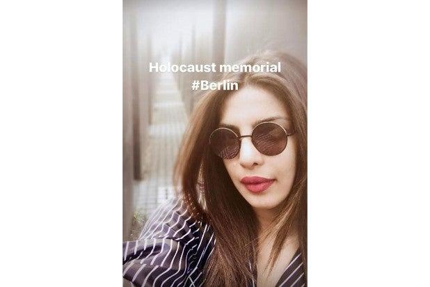 Priyanka Chopra Berlin Holocaust Museum Instagram