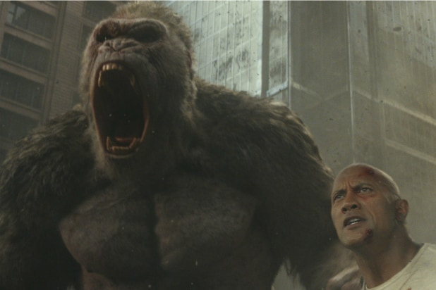 Rampage Smashes Its Way To 2 4 Million At Thursday Previews