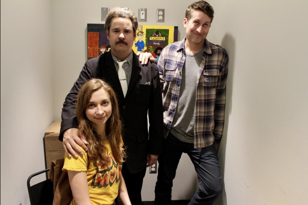 """Threedom"" hosts Lauren Lapkus, Paul F. Tompkins and Scott Aukerman"