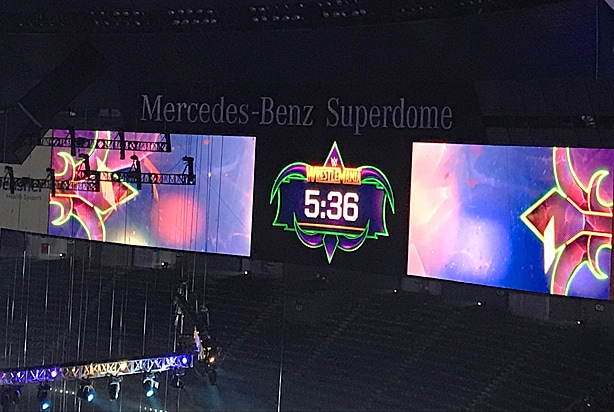 WWE WrestleMania 34 clock