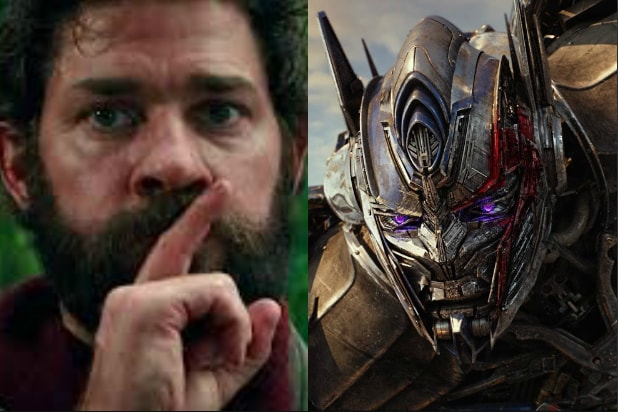 a quiet place transformers