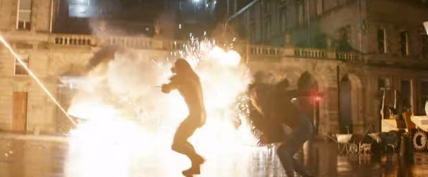 avengers infinity war new action sequence europe scarlet witch vision proxima midnight