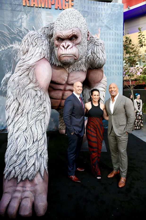 Rampage' Star Dwayne Johnson and Dany Garcia Share Their
