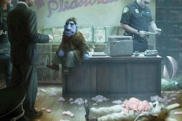Happy Time Murders Movie Beats Sesame Gag Suit