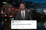 jimmy kimmel live donald trump disagrees with himself on syria