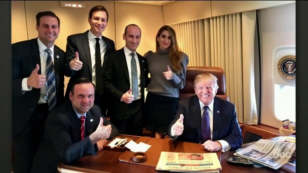 jimmy kimmel live donald trump staff thumbs up
