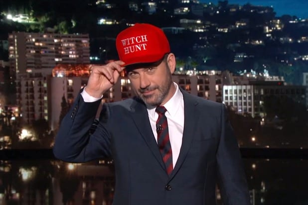 jimmy kimmel live donald trump witch hunt is the new maga michael cohen