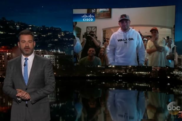 7228a568a Jimmy Kimmel Asks Baker Mayfield to Guarantee Cleveland Browns Win