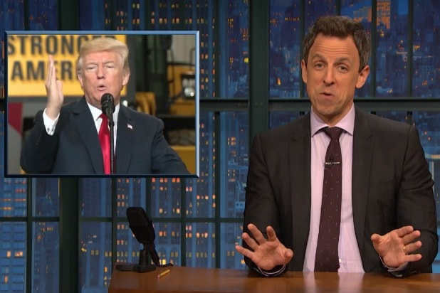 Seth Meyers Suspects Trump 'Wants to F— the Border' Between the US and  Mexico (Video)